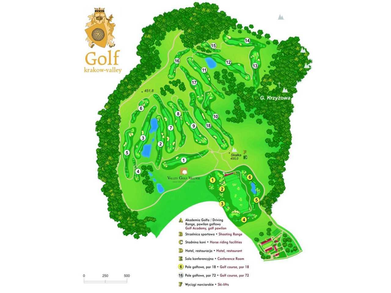 Zamek Korzkiew - Atrakcje - Valley Golf w Paczółtowicach – pole golfowe i strzelnica